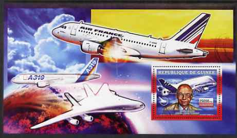 Guinea - Conakry 2006 Airbus A380 perf s/sheet #2 containing 1 value (Didier Evrard & Beluga) unmounted mint