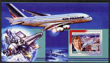 Guinea - Conakry 2006 Airbus A380 perf s/sheet #3 containing 1 value (Fernando Alonso) unmounted mint