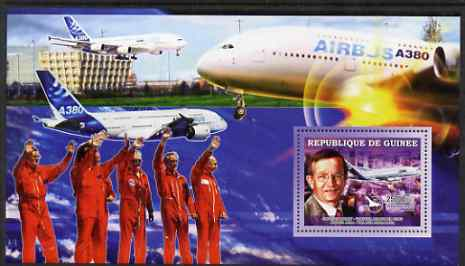Guinea - Conakry 2006 Airbus A380 perf s/sheet #4 containing 1 value (Jacques Rosay Test Pilot) unmounted mint
