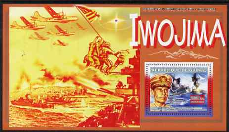 Guinea - Conakry 2006 WW2 Battles perf s/sheet #1 containing 1 value (Admiral Raymond Spruance) unmounted mint