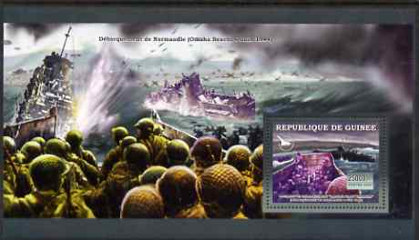 Guinea - Conakry 2006 WW2 Battles perf s/sheet #2 containing 1 value (Normandie Landings) unmounted mint