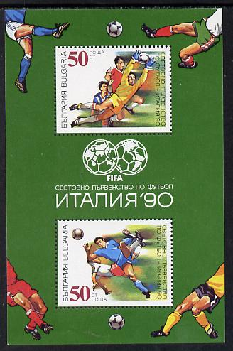 Bulgaria 1990 Football World Cup perf m/sheet SG MS 3679 (Mi BL 209A)