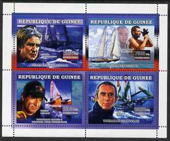 Guinea - Conakry 2006 Sailing Boats perf sheetlet containing 4 values unmounted mint
