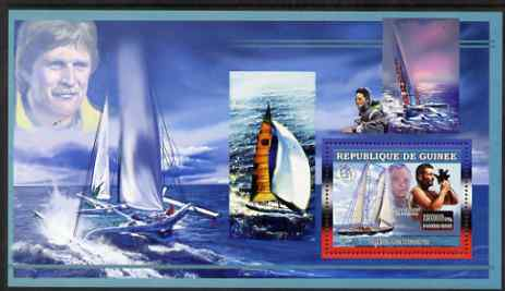 Guinea - Conakry 2006 Sailing Boats perf s/sheet #2 containing 1 value (Eric Tabarly & Pen Duick VI) unmounted mint