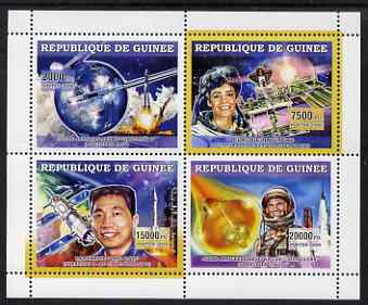Guinea - Conakry 2006 Space Achievements perf sheetlet containing 4 values unmounted mint