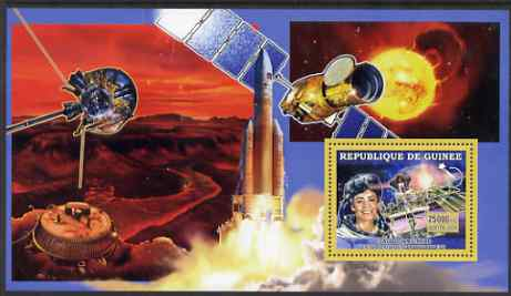 Guinea - Conakry 2006 Space Anniversaries #2 - Claudie Haignere perf s/sheet unmounted mint