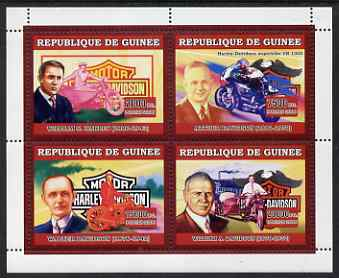 Guinea - Conakry 2006 Harley Davidson Motorcycles perf sheetlet containing 4 values unmounted mint
