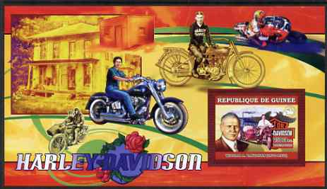 Guinea - Conakry 2006 Harley Davidson Motorcycles #4 - William Davidson perf s/sheet unmounted mint