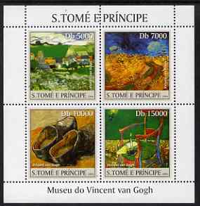 St Thomas & Prince Islands 2004 The Van Gogh Museum perf sheetlet containing 4 values unmounted mint, Mi 2535-38