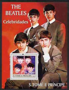 St Thomas & Prince Islands 2004 Celebrities perf s/sheet containing 1 value (Beatles) unmounted mint  Mi BL 489
