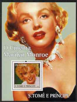 St Thomas & Prince Islands 2004 Cinema Stars perf s/sheet containing 1 value (Marilyn Monroe)  unmounted mint  Mi BL 490