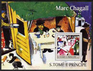 St Thomas & Prince Islands 2004 Marc Chagall perf s/sheet containing 1 value unmounted mint  Mi BL 498