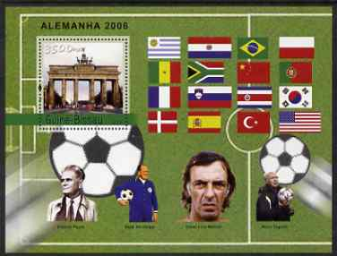 Guinea - Bissau 2004 Football World Cup perf s/sheet containing 1 value unmounted mint  Mi BL 457, stamps on football