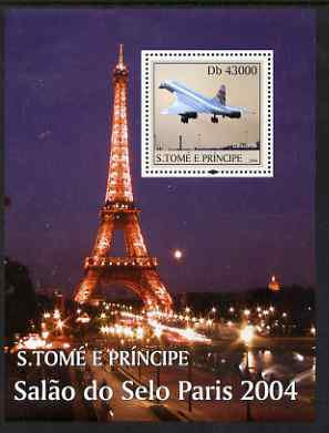 St Thomas & Prince Islands 2004 Paris perf s/sheet containing 1 value unmounted mint  Mi BL 501