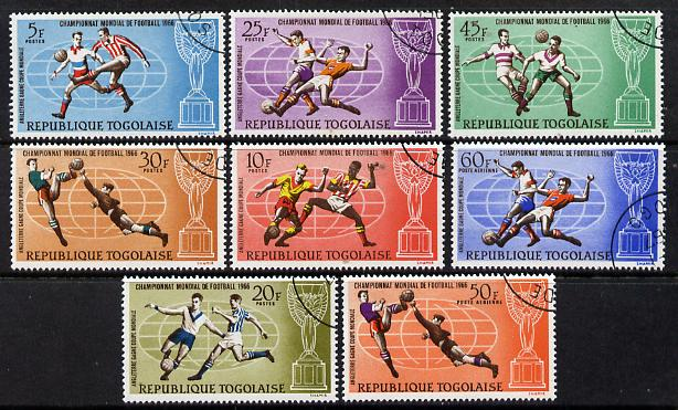 Togo 1966 Football World Cup perf set of 8 cto used, SG 484-91