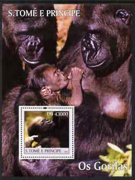 St Thomas & Prince Islands 2004 Gorillas perf s/sheet containing 1 value unmounted mint  Mi BL 511