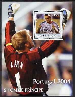St Thomas & Prince Islands 2004 Football perf s/sheet containing 1 value (David Beckham) unmounted mint  Mi BL 502