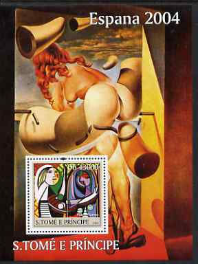 St Thomas & Prince Islands 2004 Spanish Paintings perf s/sheet containing 1 value (Picasso) unmounted mint  Mi BL 500