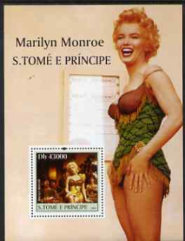St Thomas & Prince Islands 2004 Celebrities (Marilyn Monroe) perf s/sheet containing 1 value unmounted mint  Mi BL 519