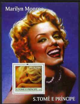 St Thomas & Prince Islands 2004 Marilyn Monroe perf s/sheet containing 1 value unmounted mint  Mi BL 518