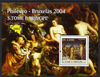 St Thomas & Prince Islands 2004 Nude Paintings (Phileuro) perf s/sheet containing 1 value unmounted mint  Mi BL 526