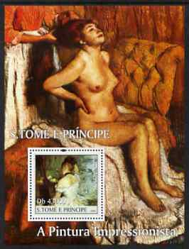 St Thomas & Prince Islands 2004 Impressionist Nude Paintings perf s/sheet #2 containing 1 value unmounted mint  Mi BL 527