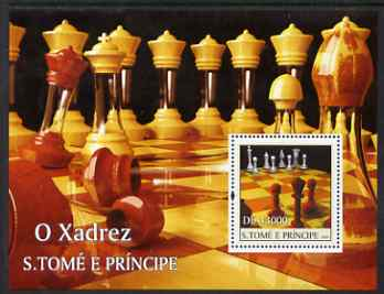 St Thomas & Prince Islands 2004 Chess perf s/sheet containing 1 value unmounted mint  Mi BL 515
