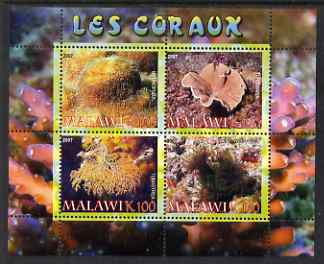 Malawi 2007 Coral perf sheetlet containing 4 values unmounted mint