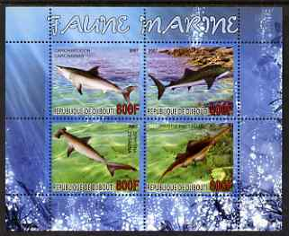 Djibouti 2007 Marine Fauna perf sheetlet containing 4 values unmounted mint