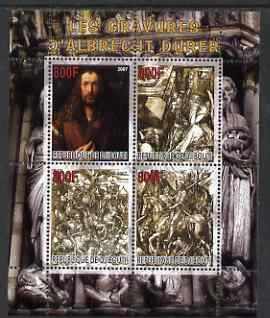 Djibouti 2007 The Engravings of Albrecht Durer perf sheetlet containing 4 values unmounted mint