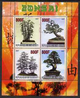 Djibouti 2007 Bonsai perf sheetlet containing 4 values unmounted mint
