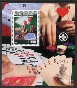 Palestine (PNA) 2008 Playing Cards & Gambling perf s/sheet containing 1 value (with Scout Logo) unmounted mint