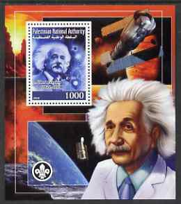 Palestine (PNA) 2008 Albert Einstein perf s/sheet containing 1 value (with Scout Logo) unmounted mint