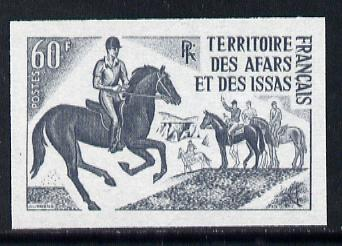 French Afars & Issas 1970 Pony Trekking 60f unmounted mint IMPERF colour trial proof (several colour combinations available but price is for ONE) as SG 552