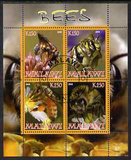 Malawi 2008 Bees perf sheetlet containing 4 values fine cto used