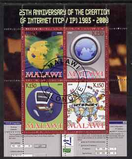 Malawi 2008 Internet 25th Anniversary perf sheetlet containing 4 values fine cto used