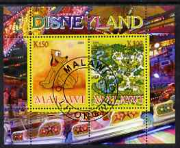 Malawi 2008 Disneyland perf sheetlet #1 containing 2 values fine cto used