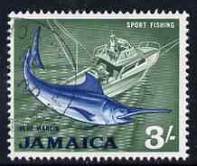 Jamaica 1964-68 Blue Marlin (Sport Fishing) 3s fine cds used SG229