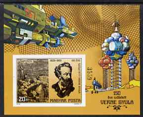 Hungary 1978 Jules Verne 150th Birth Anniversary imperf m/sheet unmounted mint as SG MS3201