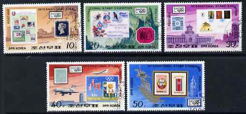 North Korea 1980 London 1980 Stamp Exhibition perf set of 5 fine cto used, SG N1968-72