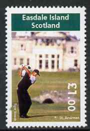Easdale 2005 Tiger Woods at St Andrews perf \A31 value unmounted mint