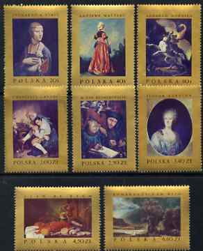 Poland 1967 Famous paintings perf set of 8 unmounted mint, SG 1788-95
