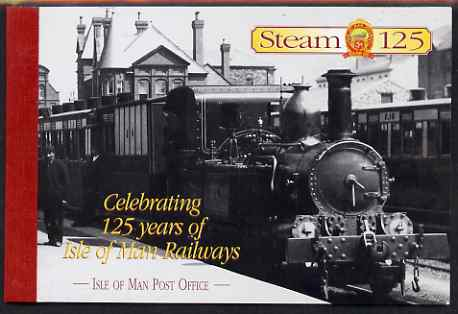 Booklet - Isle of Man 1998 125th Anniversaryof Isle of Man Steam Railway \A34.05 booklet complete & fine SG SB49
