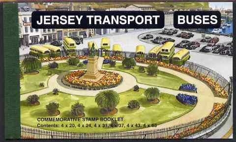 Booklet - Jersey 1998 Transport Company - Buses �8.72 Prestige booklet complete, SG SB56