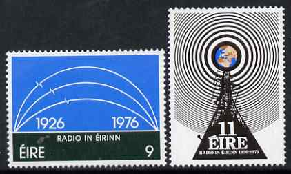 Ireland 1976 50th Anniversary of Irish Broadcasting Service perf set of 2 unmounted mint, SG 399-400