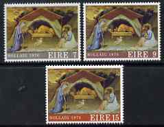 Ireland 1976 Christmas perf set of 3 unmounted mint, SG 401-3