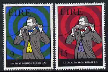 Ireland 1976 Centenary of Telephone perf set of 2 unmounted mint, SG 389-90