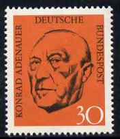 Germany - West 1968 Ardenauer Commemoration (2nd issue) 30 pfg unmounted mint, SG 1469