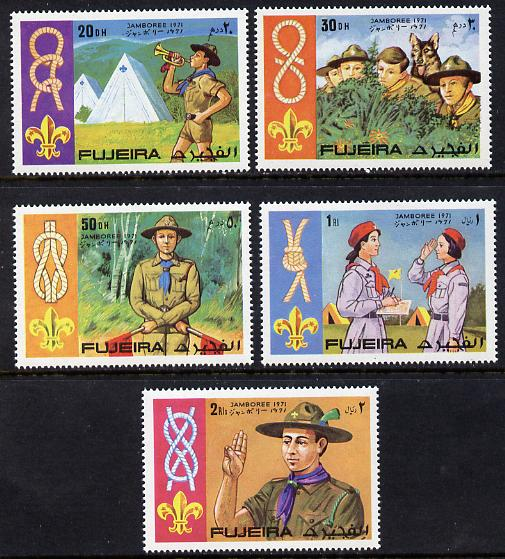 Fujeira 1971 Scouts set of 5 unmounted mint (Mi 679-83A)