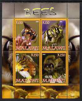 Malawi 2008 Bees perf sheetlet containing 4 values unmounted mint